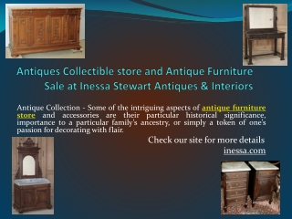 Antiques Collectible store