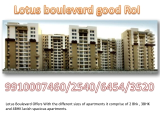 3C Lotus Boulevard - India's Largest Green Residential