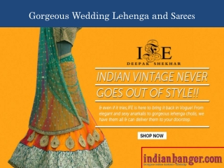 Buy Indian Fashionable Lehengas and Sarees