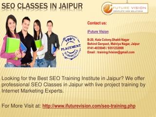Professional SEO Training Classes in Jaipur