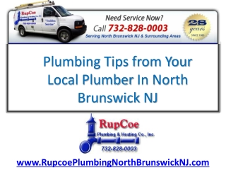 Local Plumbing North Brunswick NJ Tips