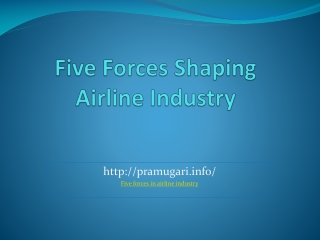 five forces in airline industry