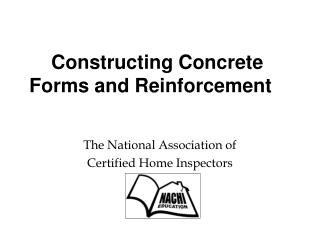 Constructing Concrete Forms and Reinforcement