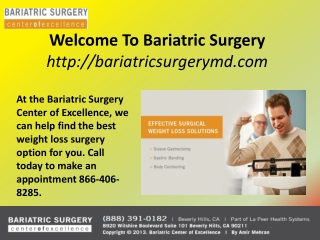 Bariatric Surgery Los Angeles
