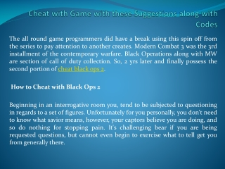 cheat black ops 2