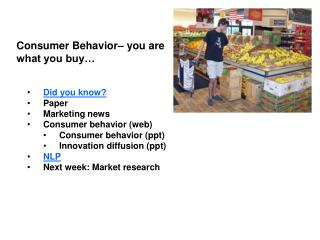 Consumer Behavior  you are  what you buy