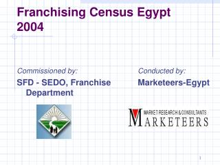 Franchising Census Egypt 2004