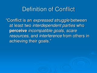 Definition of Conflict
