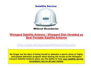 Winegard Portable Satellite Antenna