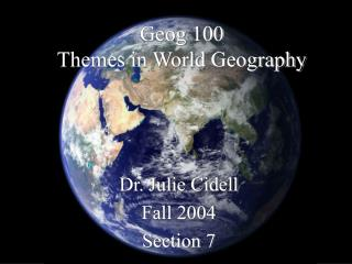 Geog 100 Themes in World Geography
