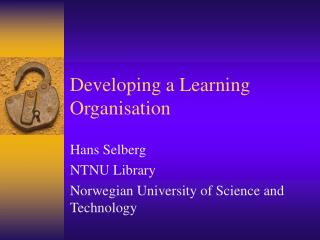 Developing a Learning Organisation