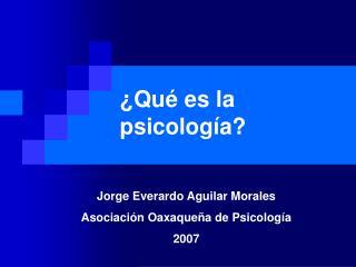 Qu  es la psicolog a