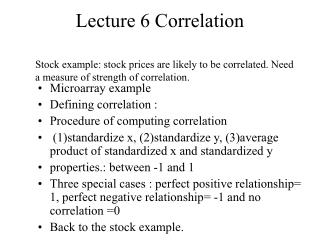 Lecture 6 Correlation