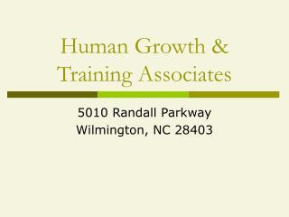 Human Growth  Training Associates