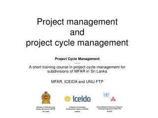 Project management  and  project cycle management