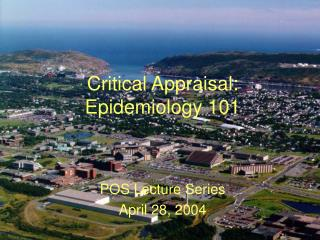 Critical Appraisal: Epidemiology 101