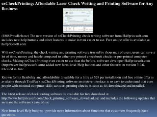 ezcheckprinting: affordable laser check writing and printing