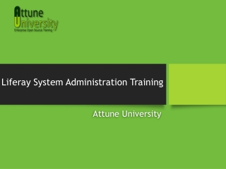 Liferay System Administration Training