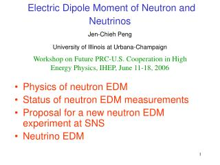 Electric Dipole Moment of Neutron and Neutrinos