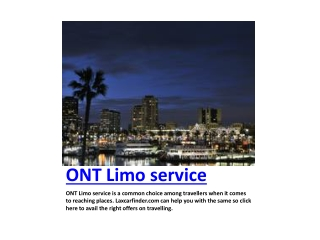 ONT Limo Service