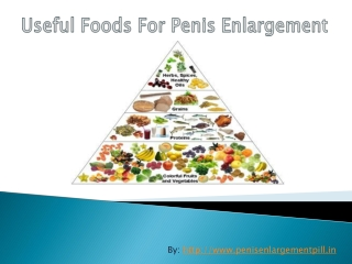 Best and Healthy Foods for Natural Penis Enlargement