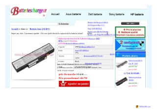 48Wh Asus A32-K72 batterie rechargeable,A32-K72 adaptateur