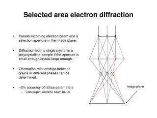 Selected area electron diffraction