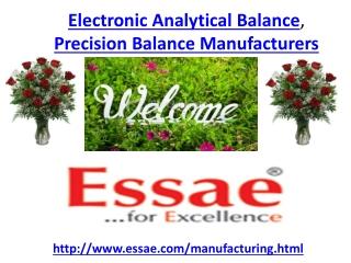 Electronic Analytical Balance, Precision Balance Manufacture