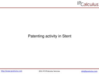 ipcalculus - stent patenting activity