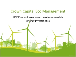 Jakarta management - UNEP report sees slowdown in renewable
