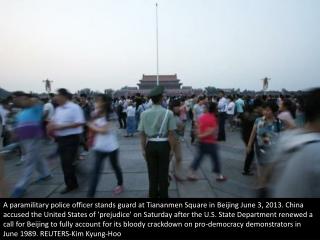 Tiananmen Square today