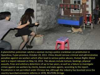 China's sex workers