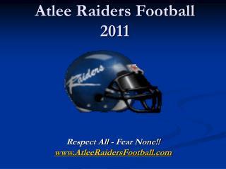 Atlee Raiders Football 2011