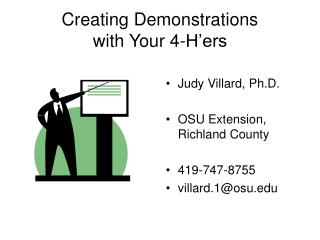 Creating Demonstrations  with Your 4-H ers