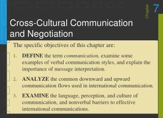 Cross-Cultural Communication and Negotiation