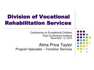 Division of Vocational Rehabilitation Services