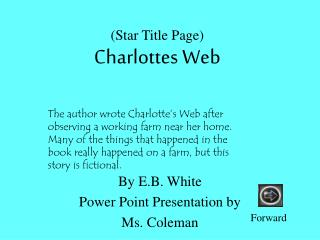Star Title Page Charlottes Web