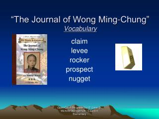 The Journal of Wong Ming-Chung  Vocabulary