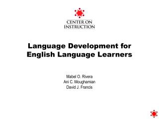 Language Development for  English Language Learners