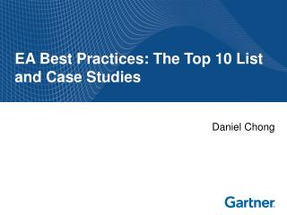 EA Best Practices: The Top 10 List and Case Studies