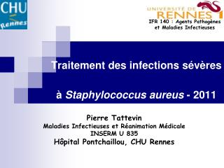 Traitement des infections s v res   Staphylococcus aureus - 2011