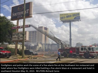 Firefighters killed battling blaze