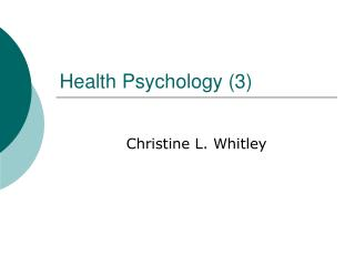 Health Psychology 3