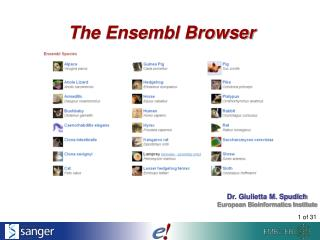 Introduction to Ensembl