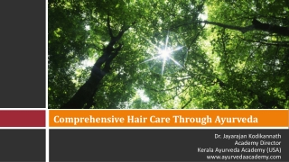 Hair Care thru Ayurveda