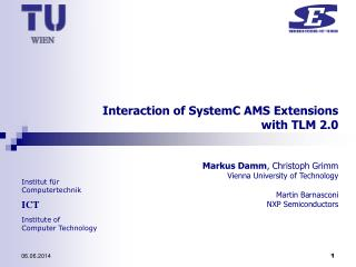 Interaction of SystemC AMS Extensions  with TLM 2.0
