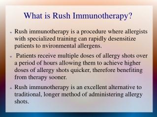 Rush immunotherapy