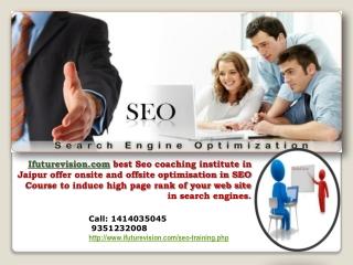 Best Seo training institute in jaipur