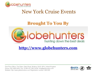 Cruise Events in New York