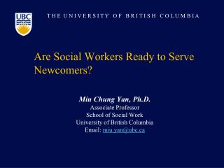 Are Social Workers Ready to Serve Newcomers